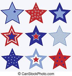 july fourth, csillaggal díszít