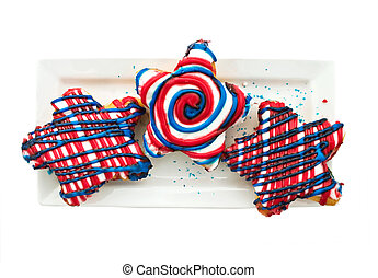 July Fourth Doughnuts
