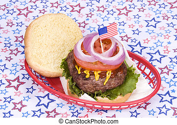 July fourth hamburger