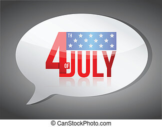 july fourth independence day message illustration