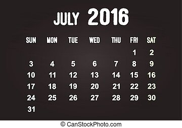July Month 2016