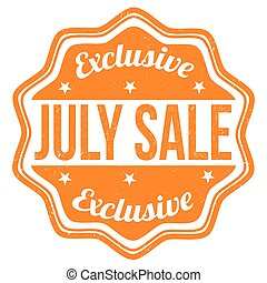 July sale stamp