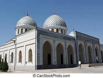 juma, tashkent, moschee, zwei, 2007, kuppeln
