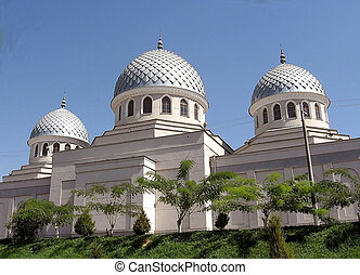 juma, tashkent, mosquée, trois, 2007, coupoles