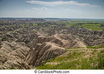 Jumbled Badlands landscape