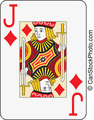 Jumbo index jack of diamonds