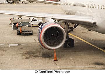 Jumbo Jet Engine - Jet engine on a jumbo passengerairplane