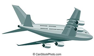Jumbo jet plane - Artwork on air travel