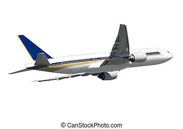 Jumbo plane isolated