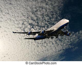 jumbo taking off