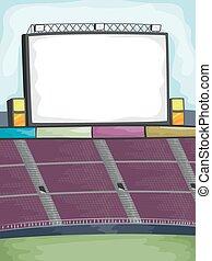 Jumbotron Field Frame - Background Illustration of a...