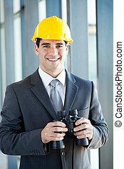 jumelles, directeur, construction