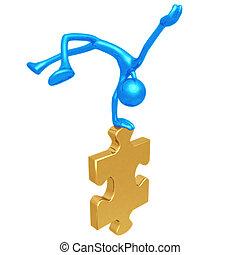 Jump For Joy Puzzle - 3D Concept And Presentation Figure