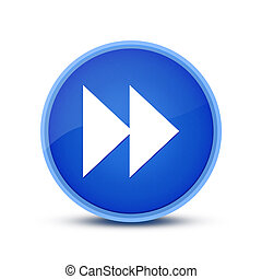 Jump forward icon isolated on blue round button abstract button abstract