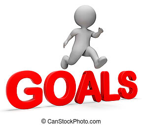 Jump Goals Represents I Did It And Improve 3d Rendering