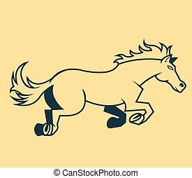 Jump Horse Line Art