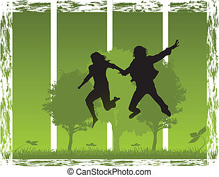 jump in nature