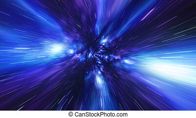 Jump in Time vortex tunnel blue galaxy background