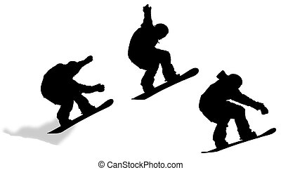 Jump Sequence Silhouette - A jump silhouette sequence with a...