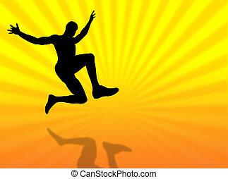 Jump silhouette