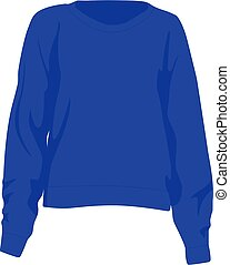 Jumper blue realistic vector illustration isolated