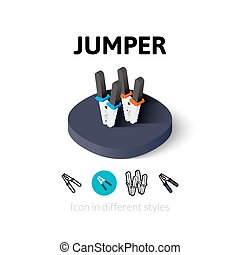 Jumper icon in different style - Jumper icon, vector symbol ...