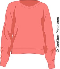 Jumper pink realistic vector illustration isolated
