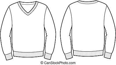 Jumper - Vector illustration of jumper. Front and back views