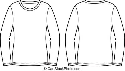 Vector illustration of jumper. Front and back views