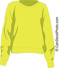 Jumper yellow realistic vector illustration isolated no background