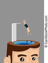 Jumping Ahead Vector Illustration