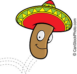 Jumping Bean - A cartoon Mexican jumping bean with a ...