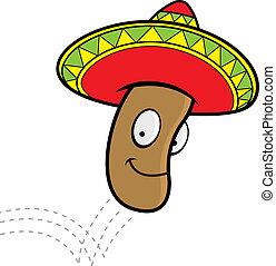 Jumping Bean - A cartoon Mexican jumping bean with a ...