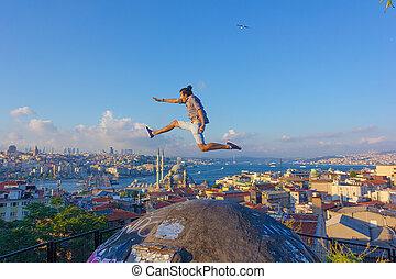 Jumping between continents