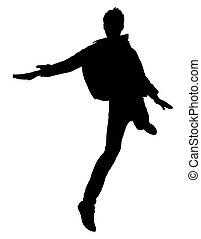 Jumping Boy Shape Vector