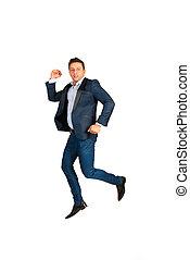 Jumping business man