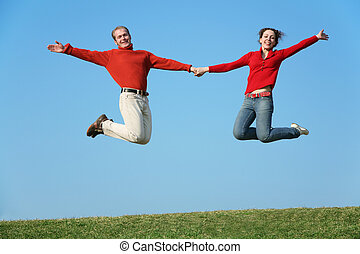 jumping couple 2