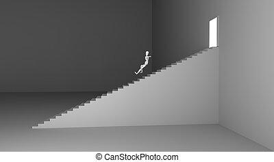 Jumping down
