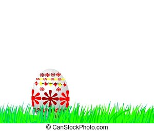 Animated cartoon - adorable Easter chick jumping from Easter egg