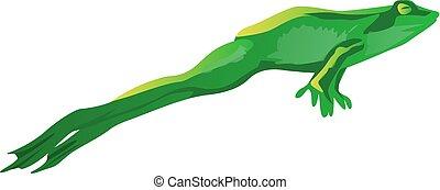 jumping green frog