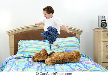 Jumping In Bed