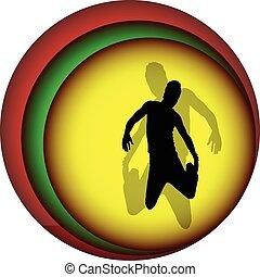 jumping man illustration