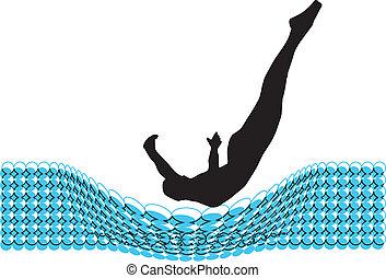 Jumping man. Vector illustration