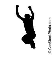 jumping martial artist