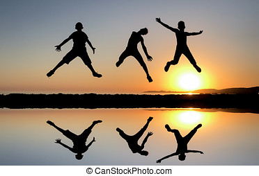 Jumping of energetic and dynamic youngsters