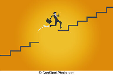 Jumping on stairs to success