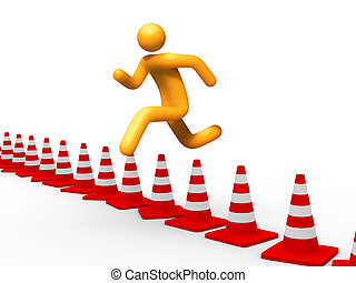 Jumping Over Cones