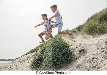 Jumping Over the Sand Dune