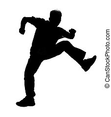 Jumping silhouette - Jumping boy silhouette