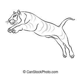 Jumping Tiger Vector